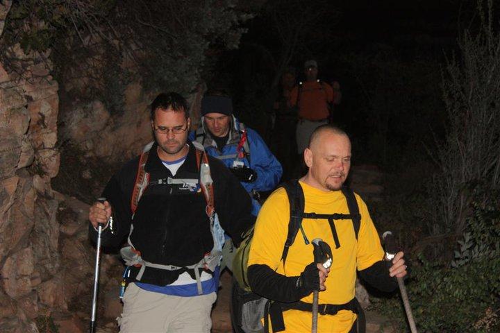 Sensei, Greg and Cat hiking