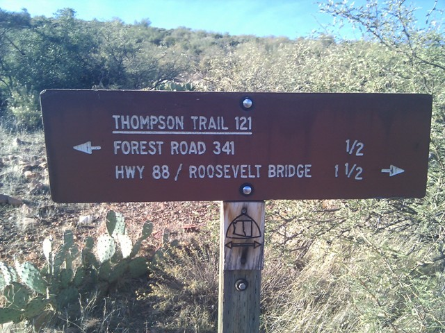 Trailhead for Thompson trail 121 near Roosevelt Lake
