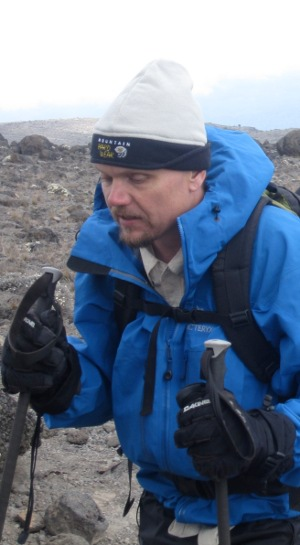 Sensei Mike Armstrong Hiking in cold weather