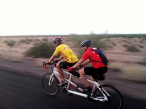 """Scot """"Scoob"""" Schmidt & Mike Armstrong at mile 98"""